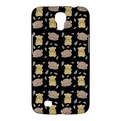 Cute Hamster Pattern Black Background Samsung Galaxy Mega 6 3  I9200 Hardshell Case by BangZart
