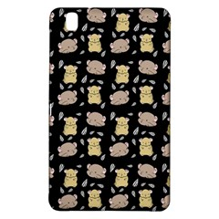 Cute Hamster Pattern Black Background Samsung Galaxy Tab Pro 8 4 Hardshell Case by BangZart