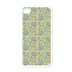 Cute Hamster Pattern Apple Iphone 4 Case (white) by BangZart