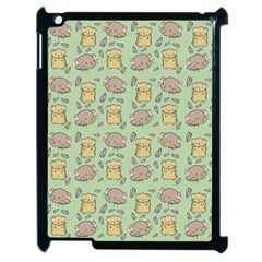 Cute Hamster Pattern Apple Ipad 2 Case (black) by BangZart