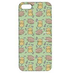 Cute Hamster Pattern Apple Iphone 5 Hardshell Case With Stand by BangZart