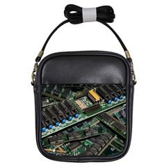 Computer Ram Tech Girls Sling Bags by BangZart