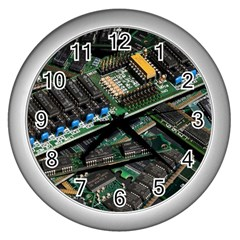 Computer Ram Tech Wall Clocks (silver)  by BangZart