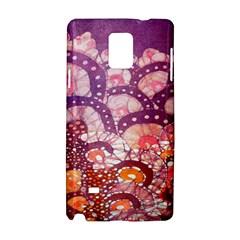 Colorful Art Traditional Batik Pattern Samsung Galaxy Note 4 Hardshell Case by BangZart