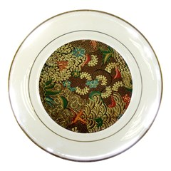 Colorful The Beautiful Of Art Indonesian Batik Pattern Porcelain Plates by BangZart