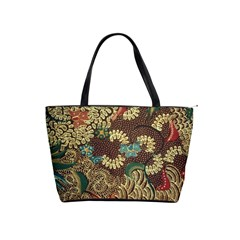 Colorful The Beautiful Of Art Indonesian Batik Pattern Shoulder Handbags by BangZart