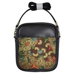Colorful The Beautiful Of Art Indonesian Batik Pattern Girls Sling Bags by BangZart