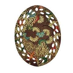 Colorful The Beautiful Of Art Indonesian Batik Pattern Oval Filigree Ornament (two Sides) by BangZart