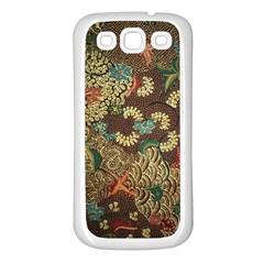 Colorful The Beautiful Of Art Indonesian Batik Pattern Samsung Galaxy S3 Back Case (white) by BangZart