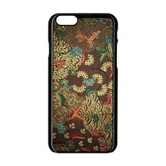 Colorful The Beautiful Of Art Indonesian Batik Pattern Apple Iphone 6/6s Black Enamel Case by BangZart