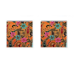 Colorful The Beautiful Of Art Indonesian Batik Pattern(1) Cufflinks (square) by BangZart