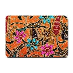 Colorful The Beautiful Of Art Indonesian Batik Pattern(1) Small Doormat  by BangZart