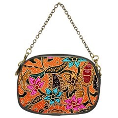 Colorful The Beautiful Of Art Indonesian Batik Pattern(1) Chain Purses (two Sides)  by BangZart