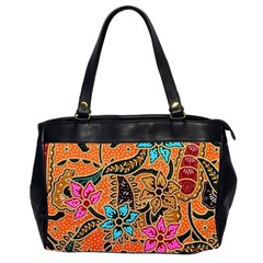Colorful The Beautiful Of Art Indonesian Batik Pattern(1) Office Handbags (2 Sides)  by BangZart