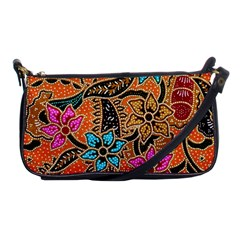 Colorful The Beautiful Of Art Indonesian Batik Pattern(1) Shoulder Clutch Bags by BangZart