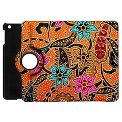 Colorful The Beautiful Of Art Indonesian Batik Pattern(1) Apple Ipad Mini Flip 360 Case by BangZart