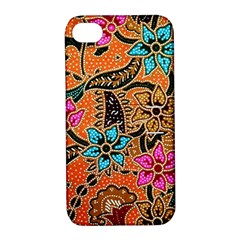 Colorful The Beautiful Of Art Indonesian Batik Pattern(1) Apple Iphone 4/4s Hardshell Case With Stand by BangZart