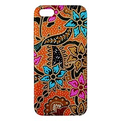 Colorful The Beautiful Of Art Indonesian Batik Pattern(1) Iphone 5s/ Se Premium Hardshell Case by BangZart