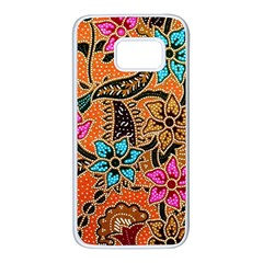 Colorful The Beautiful Of Art Indonesian Batik Pattern(1) Samsung Galaxy S7 White Seamless Case by BangZart