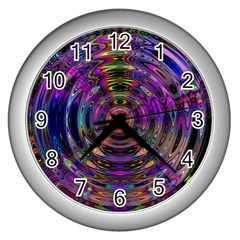 Color In The Round Wall Clocks (silver)  by BangZart