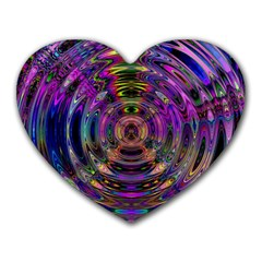 Color In The Round Heart Mousepads by BangZart