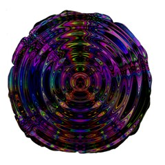 Color In The Round Large 18  Premium Flano Round Cushions by BangZart