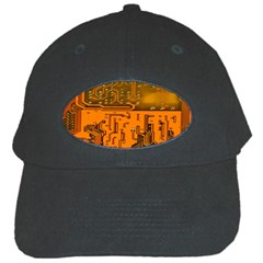 Circuit Board Pattern Black Cap by BangZart
