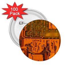 Circuit Board Pattern 2 25  Buttons (100 Pack)  by BangZart