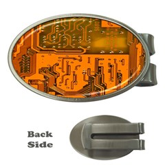 Circuit Board Pattern Money Clips (oval)  by BangZart