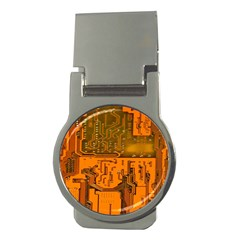 Circuit Board Pattern Money Clips (round)