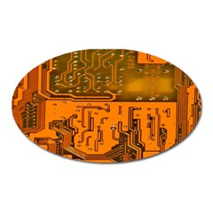 Circuit Board Pattern Oval Magnet by BangZart