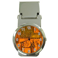 Circuit Board Pattern Money Clip Watches by BangZart