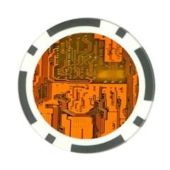 Circuit Board Pattern Poker Chip Card Guard (10 Pack) by BangZart