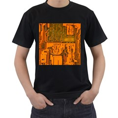 Circuit Board Pattern Men s T Shirt (black)