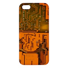 Circuit Board Pattern Iphone 5s/ Se Premium Hardshell Case by BangZart