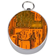 Circuit Board Pattern Silver Compasses by BangZart
