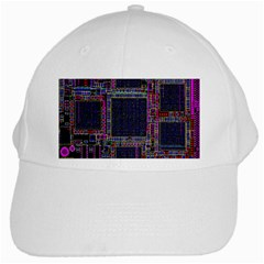 Cad Technology Circuit Board Layout Pattern White Cap by BangZart