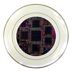 Cad Technology Circuit Board Layout Pattern Porcelain Plates by BangZart