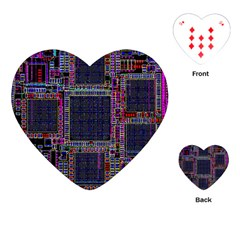 Cad Technology Circuit Board Layout Pattern Playing Cards (heart)  by BangZart