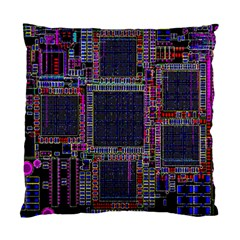 Cad Technology Circuit Board Layout Pattern Standard Cushion Case (one Side) by BangZart