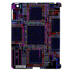 Cad Technology Circuit Board Layout Pattern Apple Ipad 3/4 Hardshell Case (compatible With Smart Cover) by BangZart