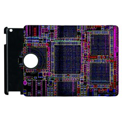 Cad Technology Circuit Board Layout Pattern Apple Ipad 2 Flip 360 Case by BangZart