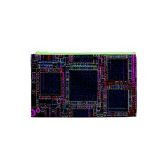 Cad Technology Circuit Board Layout Pattern Cosmetic Bag (xs) by BangZart