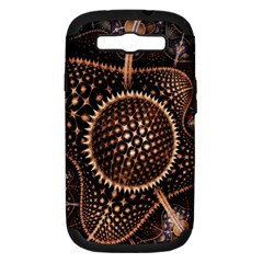 Brown Fractal Balls And Circles Samsung Galaxy S Iii Hardshell Case (pc+silicone) by BangZart