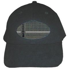 Building Pattern Black Cap by BangZart