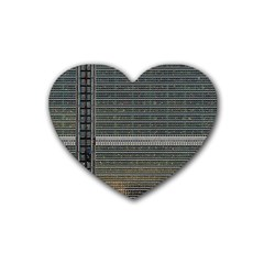 Building Pattern Rubber Coaster (heart)  by BangZart