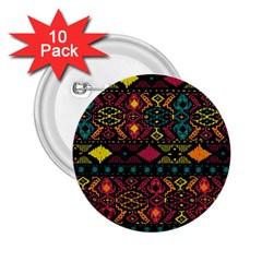 Bohemian Patterns Tribal 2 25  Buttons (10 Pack)  by BangZart