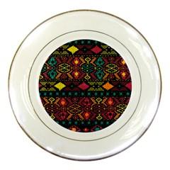 Bohemian Patterns Tribal Porcelain Plates by BangZart