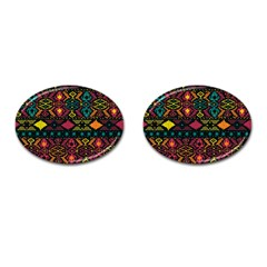 Bohemian Patterns Tribal Cufflinks (oval) by BangZart