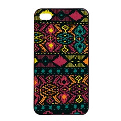 Bohemian Patterns Tribal Apple Iphone 4/4s Seamless Case (black) by BangZart